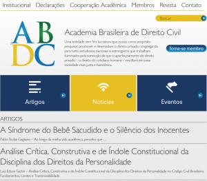 Site Academia Brasileira de Direito Civil Juiz de Fora
