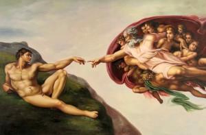 Michelangelo+A+criação+de+Adao