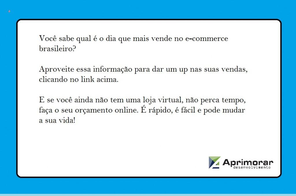 segunda feira é o melhor dia, o que mais vende no e-commerce brasileiro
