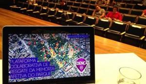 Mapa colaborativo do Parque da Redenção, em Porto Alegre (RS), criado pela startup Lung para a Unisinos. (Divulgação/Lung)