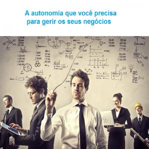 autonomia para gerir negócios site e loja virtual